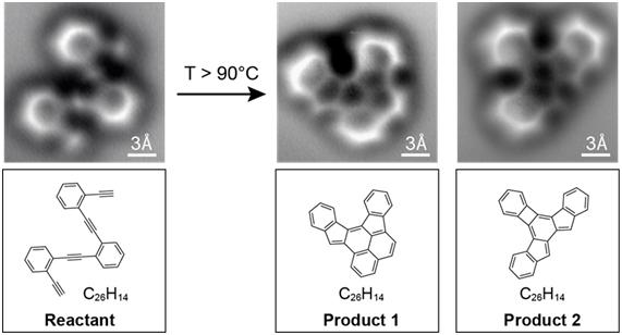 Primera imagen de una molécula orgánica durante una reacción