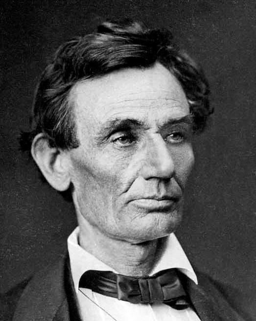 Foto del candidato Abraham Lincoln. 1860