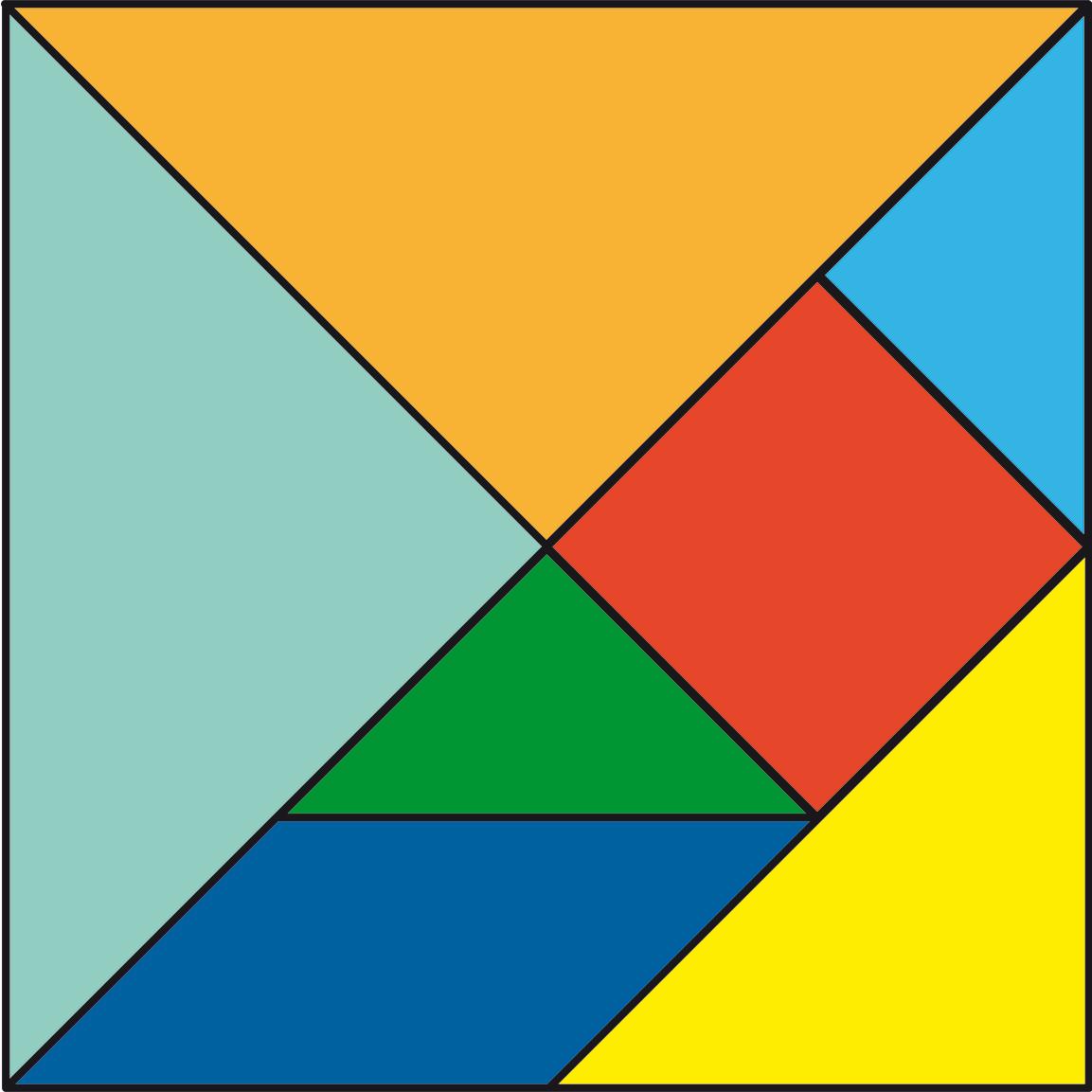 Tangram cuaderno de cultura cient fica for Cuadros con formas geometricas