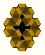 Cuboctaedros imposibles (1977) IMAGEN 5: Hipercubo blanco en vuelo (1972)