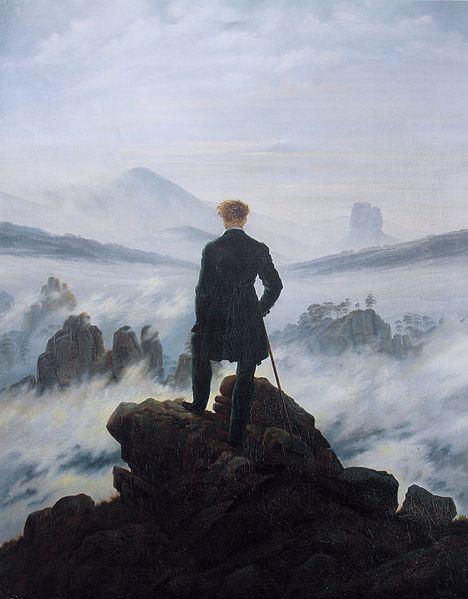 Der Wanderer über dem Nebelmeer (1818) de Caspar David Fredrich