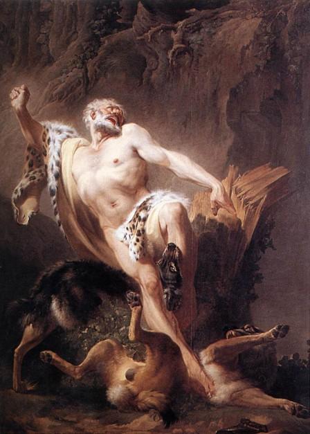 Milón de Crotona, Joseph Benoit Suveé (1743-1807), Museo de Groningen)