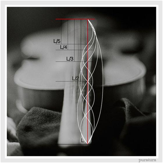 En una cuerda, los distintos modos de vibración refuerzan la frecuencia fundamental. Son los armónicos, múltiplos de esta frecuencia.