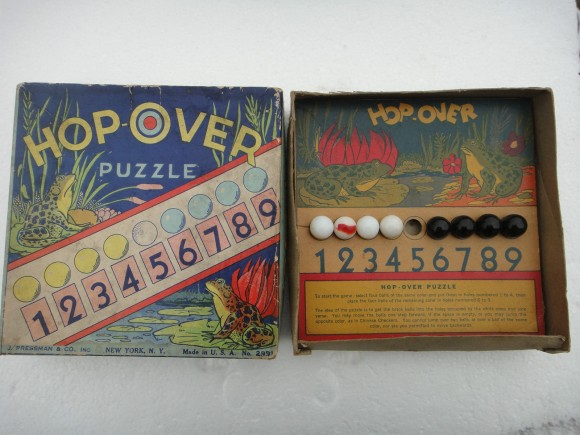 """Juego original """"Top-over puzzle"""" de 1930, realizado por J. Pressman & Co., NY"""