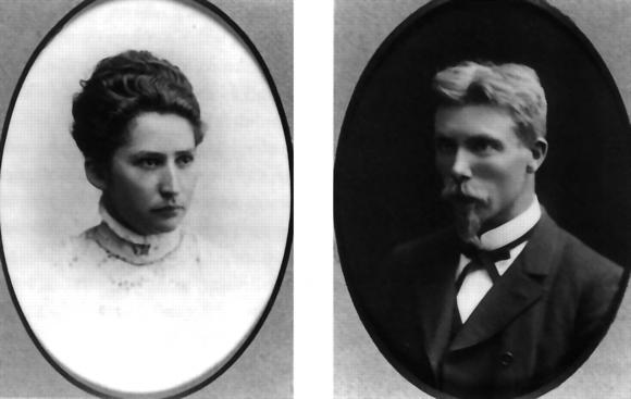 Marie Jørgensen y August Krogh