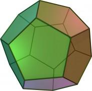 Un poliedro convexo, el dodecaedro, y un poliedro no convexo, el gran dodecaedro estrellado