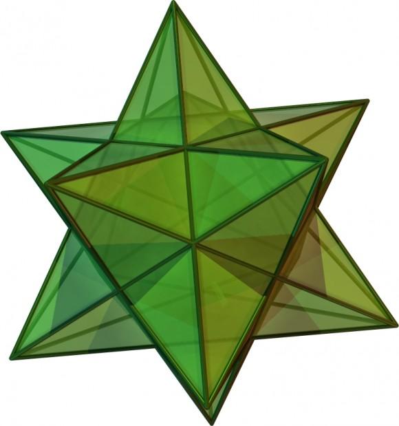 El pequeño dodecaedro estrellado, una de las estrellaciones del dodecaedro