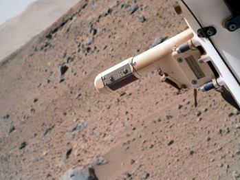 Parte del instrumento REMS. Imagen: NASA/JPL-Caltech