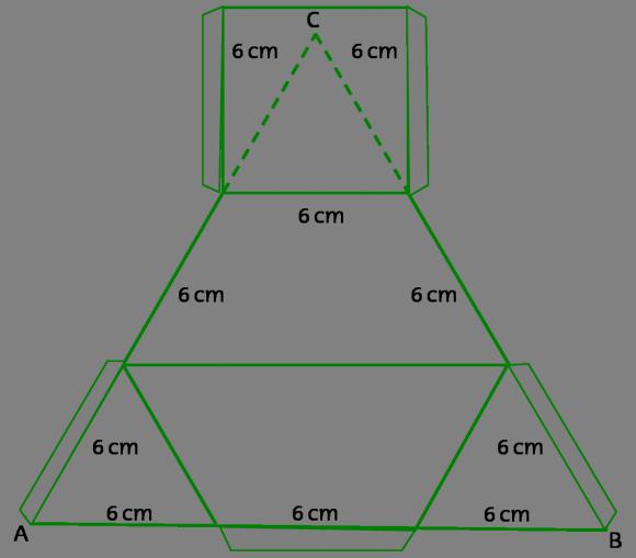 Diagrama para construir un semi-tetraedro