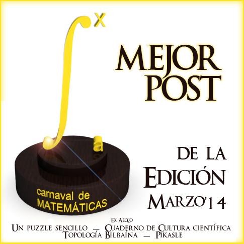 Premio Carnaval Matematicas Marzo 2014