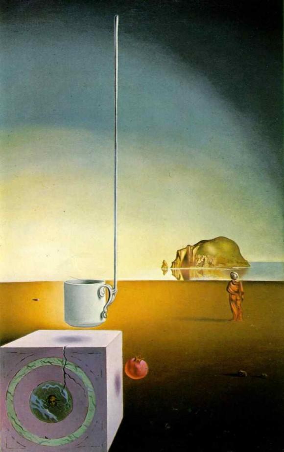 Espiral de Durero, que no es una espiral logarítmica, y pintura Semitaza gigante volando con anexo inexplicable de cinco metros de longitud (1946) en la que Salvador Dalí hizo uso de la descomposición del rectángulo áureo y de la espiral de Durero para el diseño de su estructura