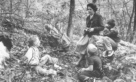 En un bosque cercaco a su casa de maryland en 1962, año de la publicación de Primavera silenciosa