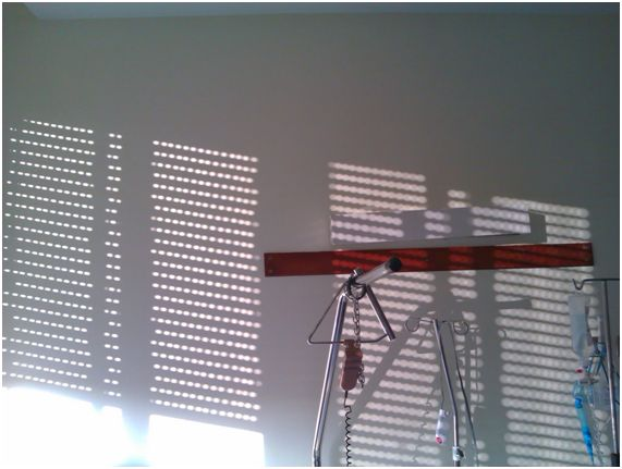 El sol que entra por la ventana