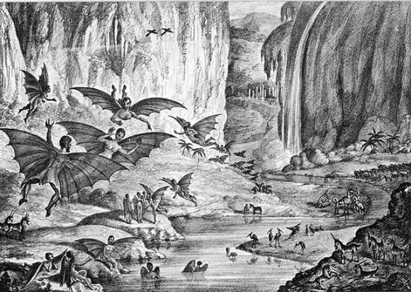 Habitantes de la Luna según The New York Sun, agosto de 1835