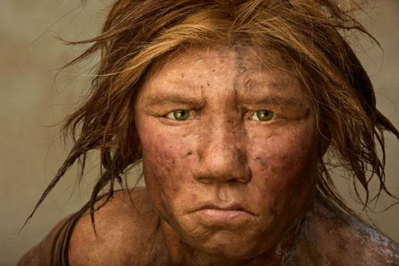Neandertal de la portada de National Geographic en noviembre de 2008.