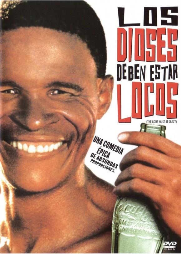 """Cartel de la película """"Los dioses deben de estar locos"""" (Sudáfrica-Botsuana, 1980), dirigida por Jamie Uys"""