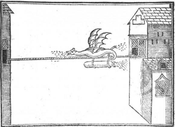 Fuegos artificiales en forma de dragón... ¿Esto no lo habrá leído también Tolkien?