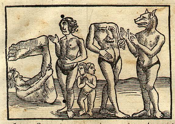 Habitantes de la India según la Cosmographia universalis de Sebastian Münster (1544)