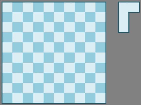 Tablero rectangular 10 x 10 y un L-tetraminó
