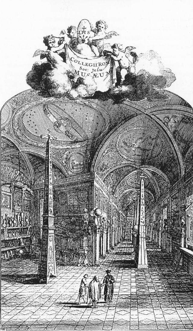 Museo kircheriano en el Collegio Romano (1679)