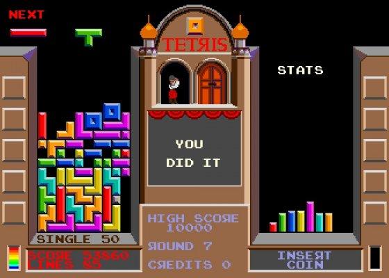 Una imagen del juego del Tetris de finales de los años 80 y los años 90