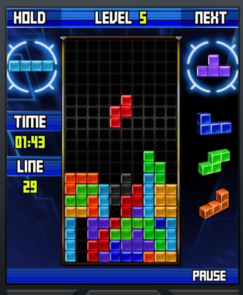 Una imagen moderna del juego del Tetris