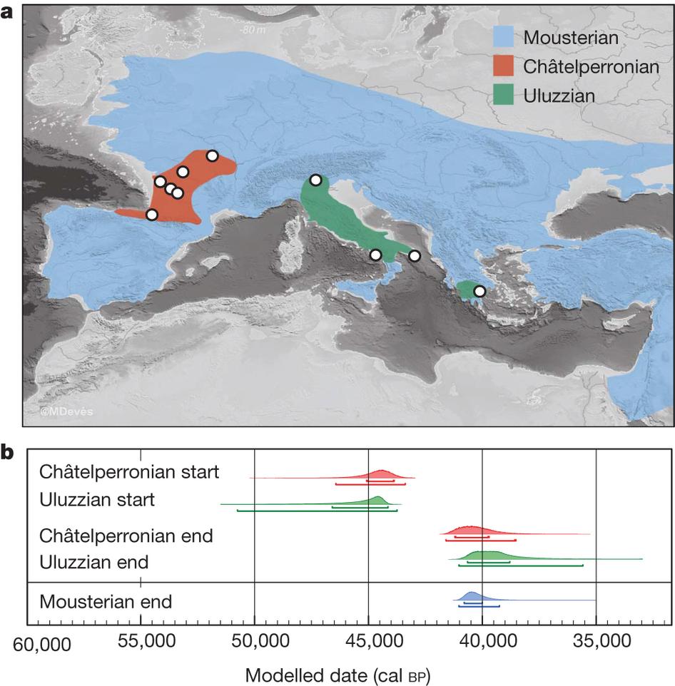 La cronología de la desaparición de los neandertales