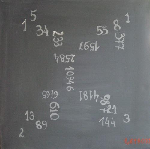 """El sueño de Fibonacci"" (2008) y ""Rojo anaranjado de Fibonacci"" (2009), de Martina Schettina"