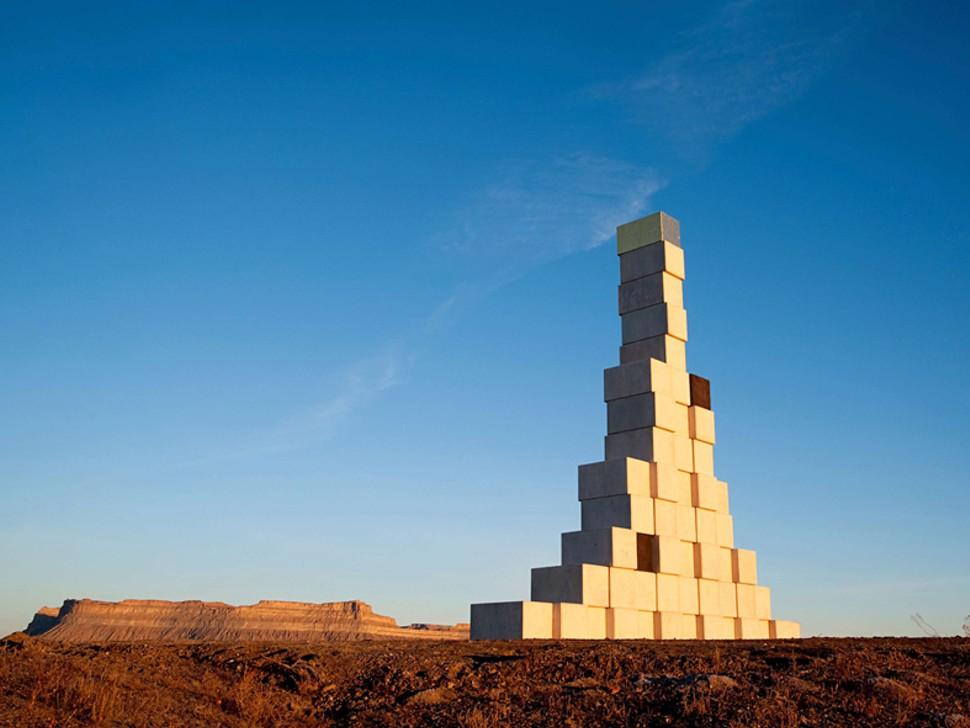 """Ratio"" (2010), de Andrew Rogers, en Green River, Utah, EEUU, cuyas dimensiones son 13,5 m x 13 m x 2 m"