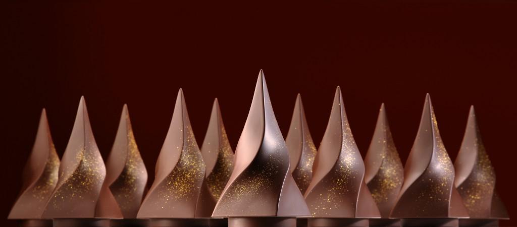 Diseños geométricos de chocolate