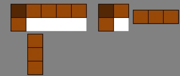 Un posible movimiento del segundo jugador, y la réplica simétrica del primer jugador