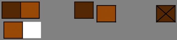 Nuevo movimiento del segundo jugador, y la réplica del primero, dejándole únicamente la onza asquerosa al segundo jugador