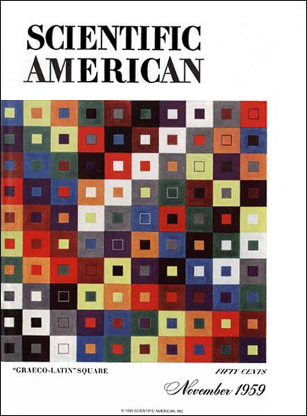 La demostración de que la conjetura de Euler era falsa y que existían cuadrados latinos ortogonales de ordenes 4k+2 superiores a 6 fue un resultado que tuvo cierta repercusión en la sociedad. Fue portada en el New York Times, y además Martin Gardner escribió un artículo en American Scientific ese mismo año, 1959, Como tres matemáticos han refutado la famosa conjetura de Leonhard Euler, y la portada de la revista, que mostramos aquí, era el cuadrado greco-latino de orden 10, pero con colores