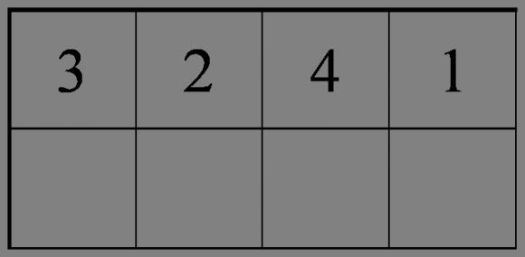Para generar un cuadrado latino de grado 4 se empieza rellenando la primera fila, y hay 4! = 4.3.2.1 = 24 formas distintas.
