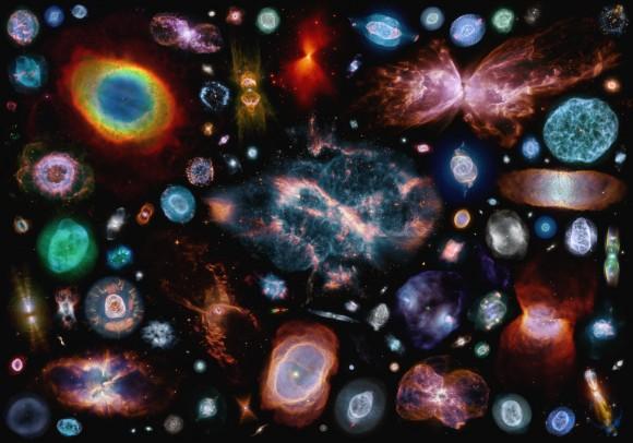 Algún día, hija mía, te parecerás a alguna de estas nebulosas planetarias. Crédito: Judy Schmidt, flickr, https://www.flickr.com/photos/geckzilla/15030785411/