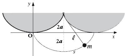 Construcción geométrica de un péndulo cicloidal.