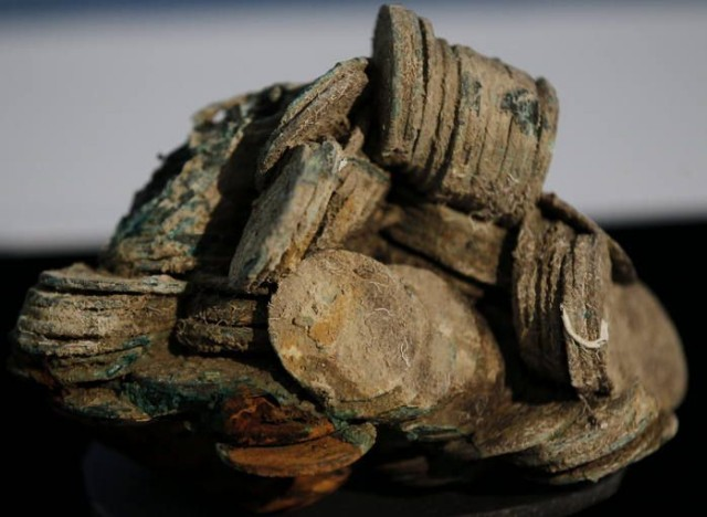 Monedas procedentes del cargamento de la fragata Ntra. Sra. de las Mercedes