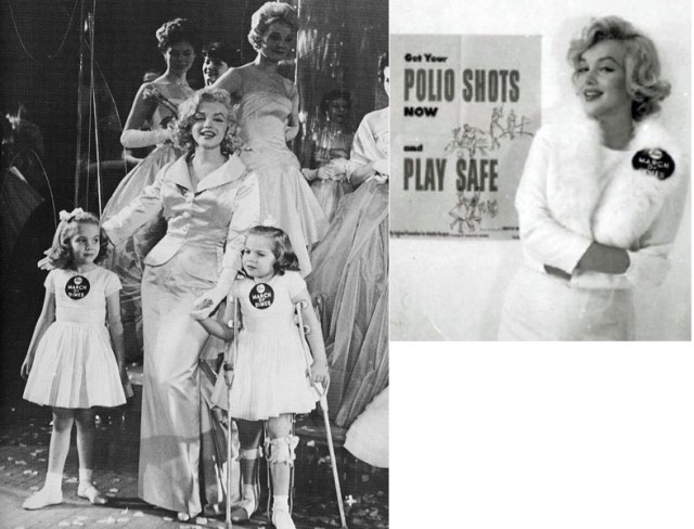 March of Dimes es una fundación que trabaja por la mejora de la salud de las madres y de sus hijos e hijas, y que fue fundada por el presidente Roosevelt en 1938 para combatir la polio. Marylin Monroe también participó en alguna campaña de esta fundación