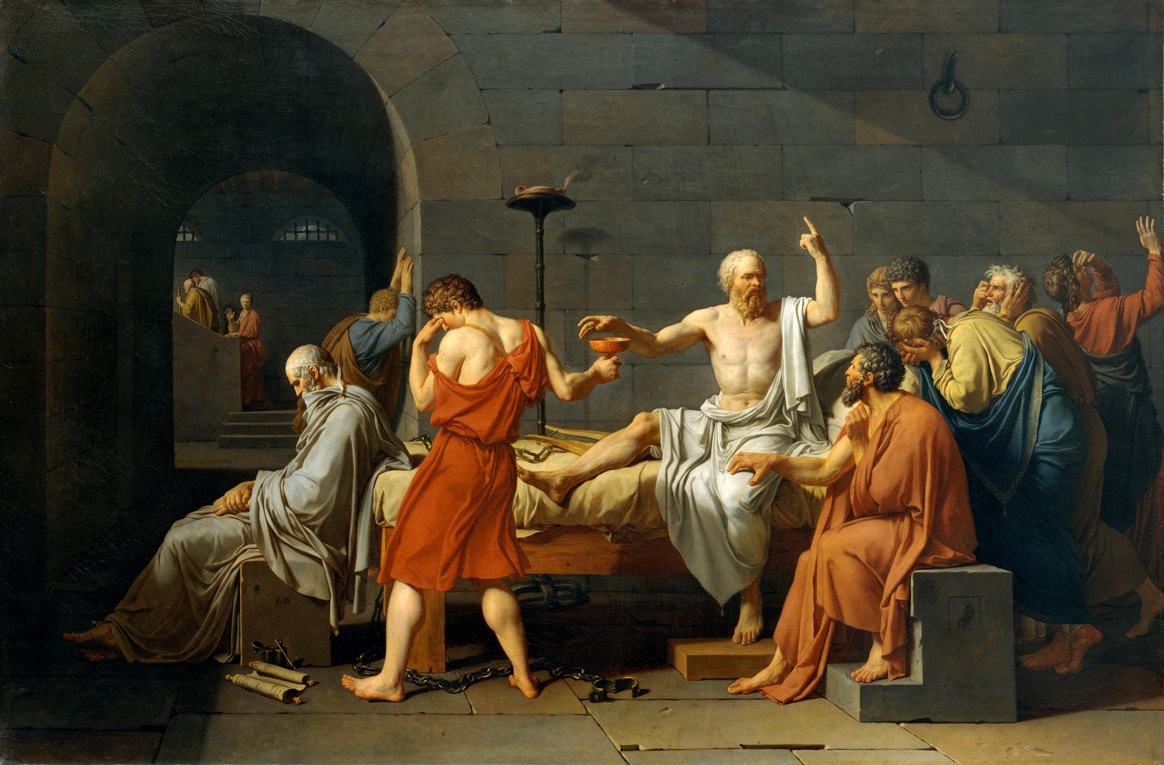 La creatividad científica y el arte: La muerte de Sócrates