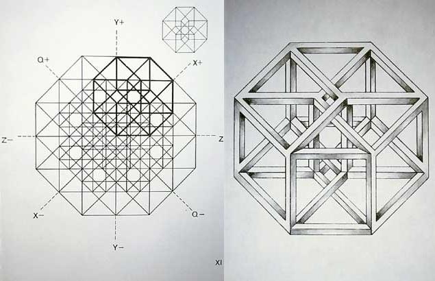 Estudio de hiperpoliedro y Estudio de hipercubo (1976), José María Yturralde