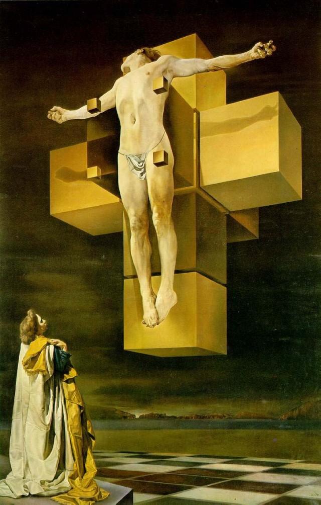 Crucifixión (Corpus Hypercubus), Salvador Dalí, 1954