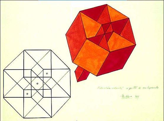 Estructura volante hipercúbica (1981), José María Yturralde