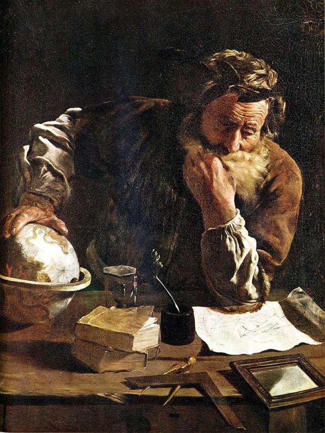 Arquímedes pensativo, por Domenico Fetti (1620)