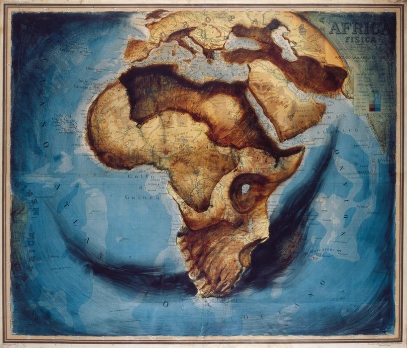 Arte cartogr fico arte con mapas cuaderno de cultura for Minimal art obras y autores