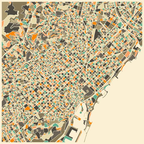 Mapa de Barcelona, Jazzberry Blue