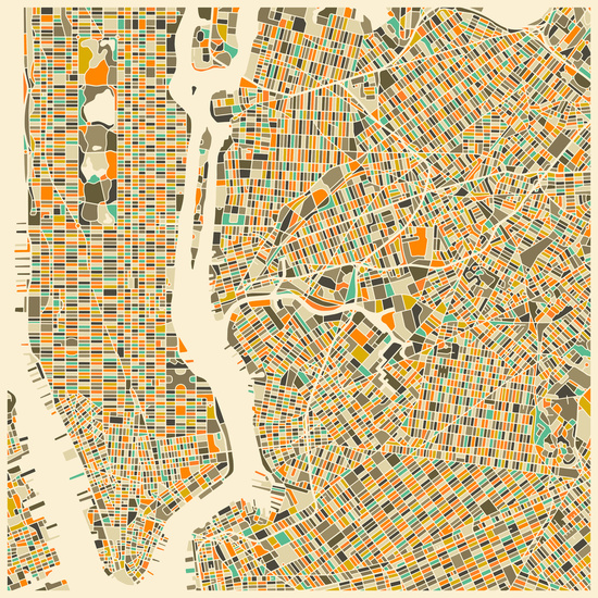 Mapa de Nueva York, Jazzberry Blue