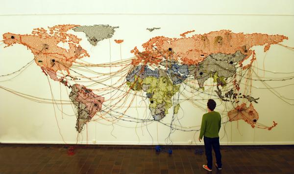 Sin título (mapa/dibujo) (2011), Reena Saini Kallat