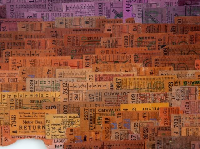Detalle de la parte de África de la obra Memento (2012), Susan Stockwell