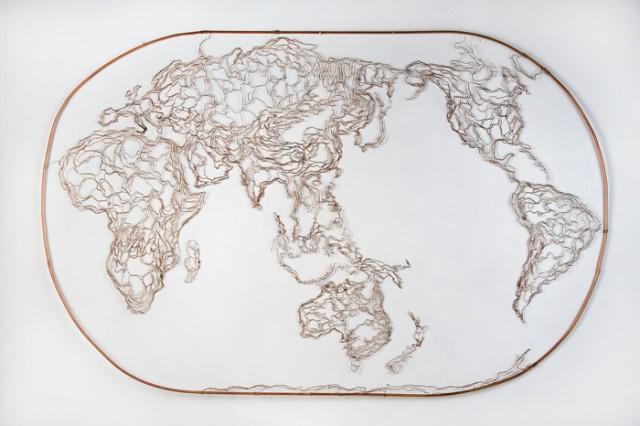 Mapamundi (World map), Elizabeth Berrien