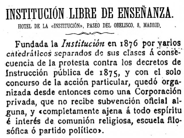 Institución Libre de Enseñanza (1876-1936)